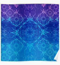 Iridium Atoms Blue Purple Poster