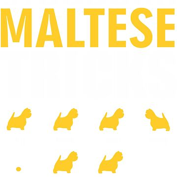 Stubborn Maltese Dog Tricks T shirt Perfect Gift For Maltese Pet Lovers by funnyguy
