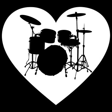 Drum Set  Heart Apparel  by MusicReadingSav