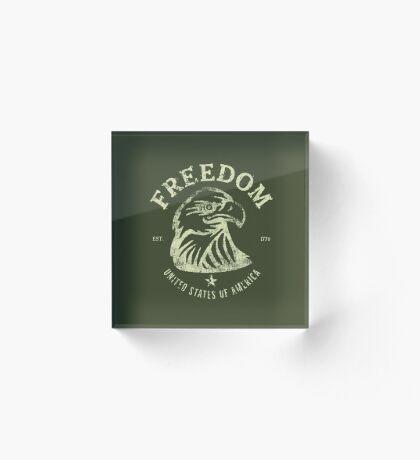 American Freedom & Bald Eagle Acrylic Block