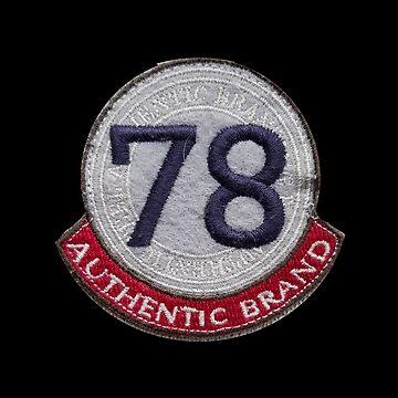 78 Number Logo Sticker Design by Linkbekka