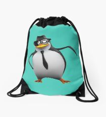 Cool Penguin Drawstring Bag