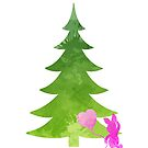 Pig Christmas Tree Inspired Silhouette by InspiredShadows