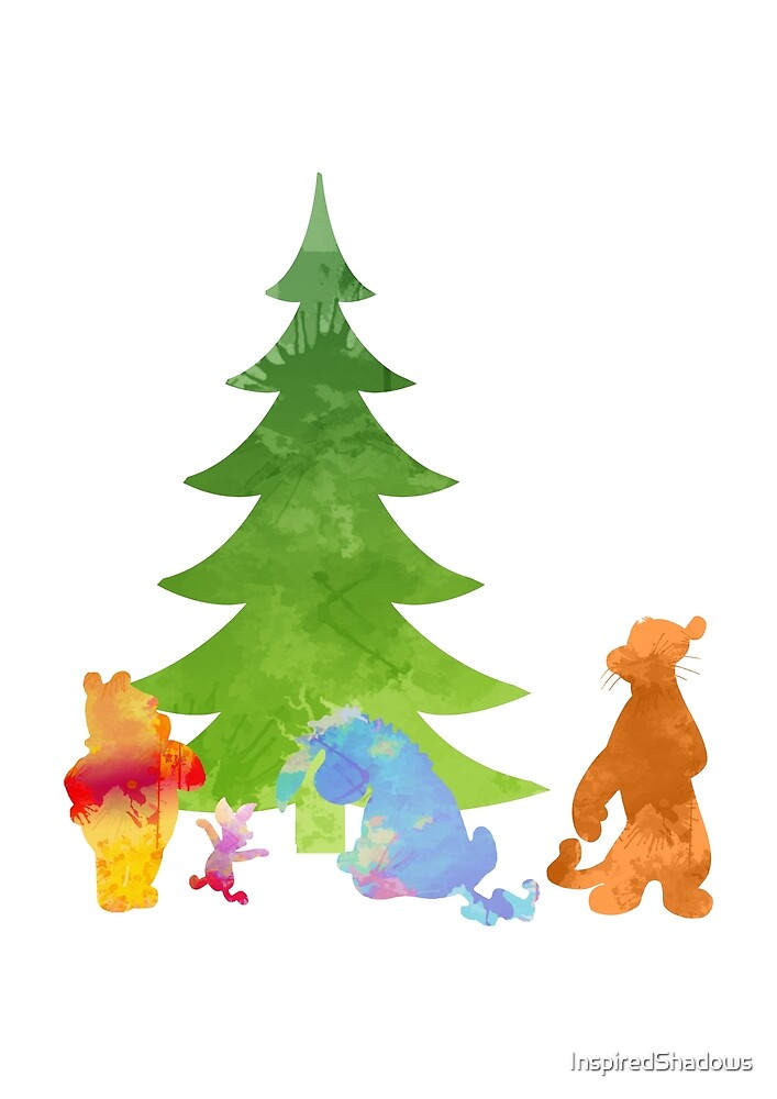 Friends by the Christmas Tree Inspired Silhouette by InspiredShadows