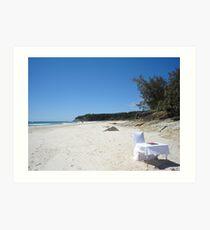 Beach Wedding Art Print