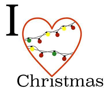 I love christmas by PM-TShirts