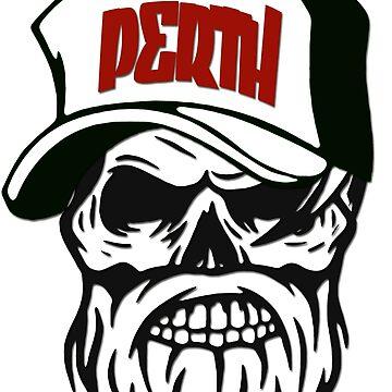 Perth Australia Hometown Hipster Skull Trucker Cap Death by lemmy666