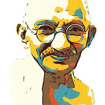 Mahatma Gandhi by C4Dart