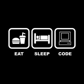 Eat Sleep Code by codewearIO