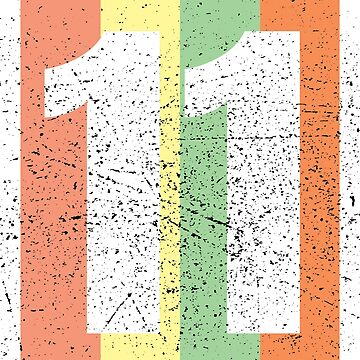 'Vintage Lucky Number 11' Awesome Lucky Number Gift by leyogi