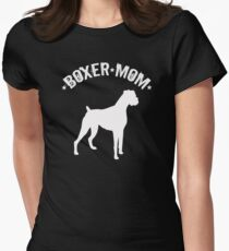Boxer Dog Mom Design - Boxer Mom Women's Fitted T-Shirt
