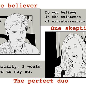 The X Files one believer one skeptic the perfect duo by MimieTrouvetou