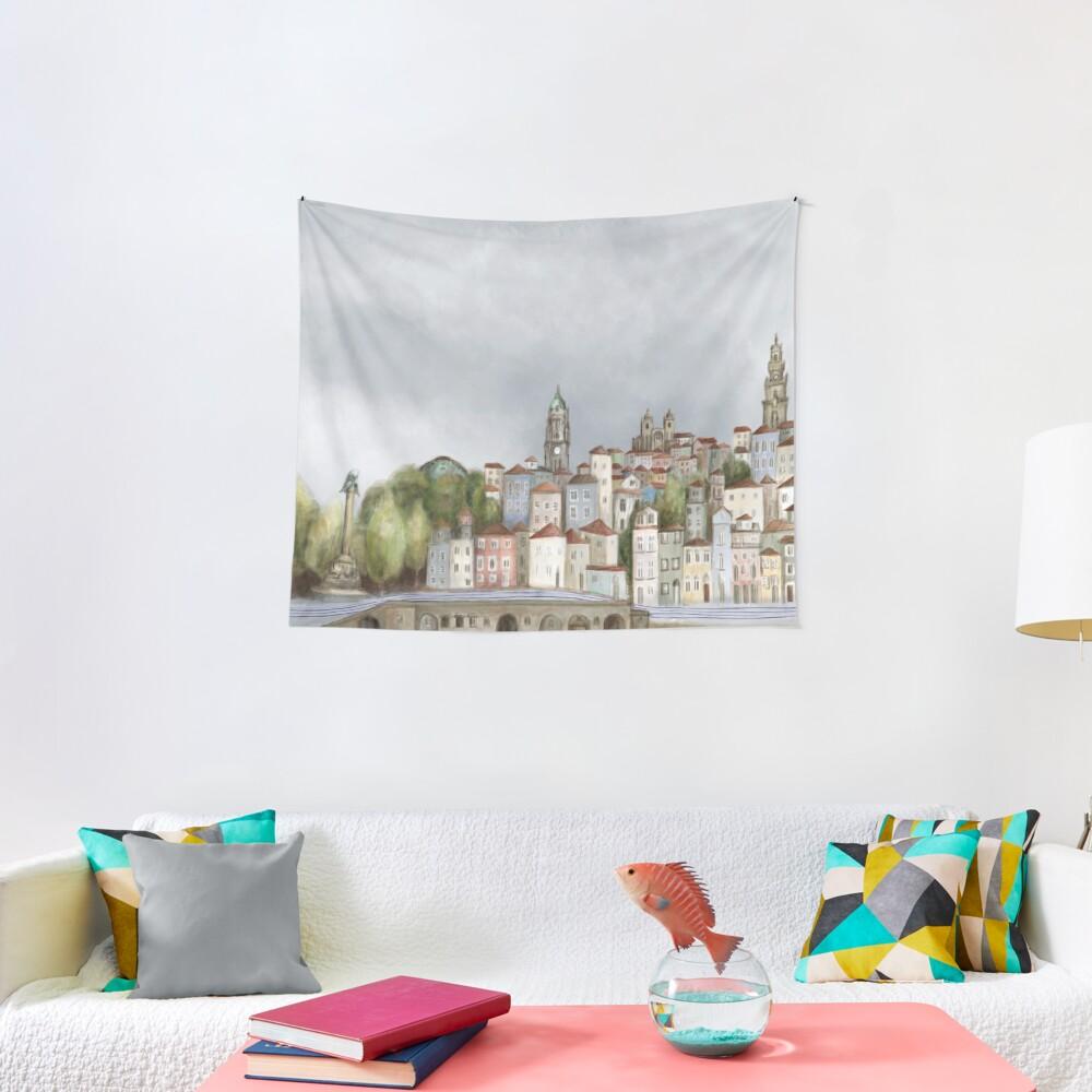 Porto landscape Tapestry