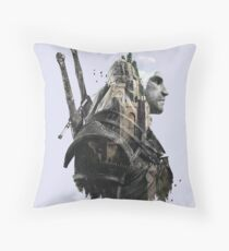 The Wolf Witcher of Kaer Morhen. Throw Pillow