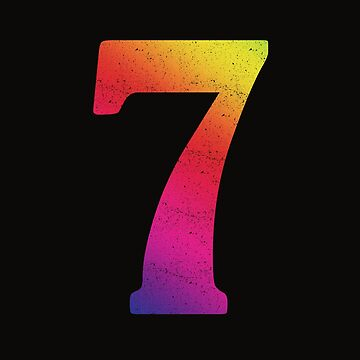 'Rainbow Lucky Number 7' Awesome Lucky Number Gift by leyogi