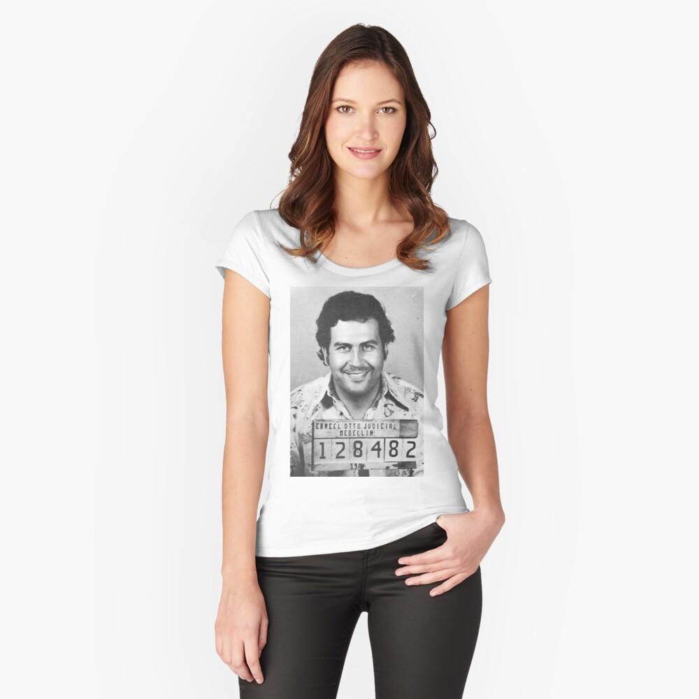 PABLO ESCOBAR MUGSHOT Camiseta entallada de cuello redondo