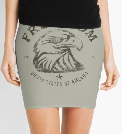 American Freedom Bald Eagle Dark Mini Skirt