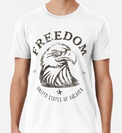 American Freedom Bald Eagle Dark Premium T-Shirt