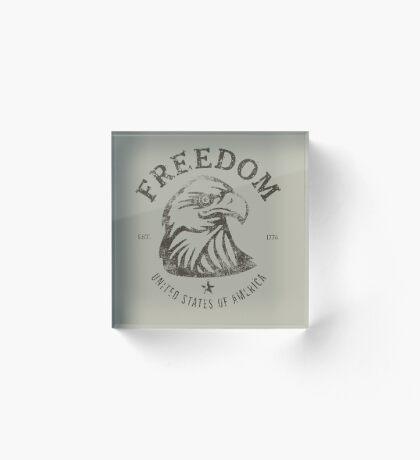 American Freedom Bald Eagle Dark Acrylic Block