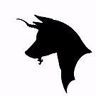 Mythical Basenjicorn! by stellarmule