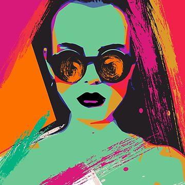 Pop Art Sunglass by NoraMohammed
