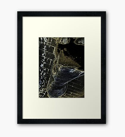 wet perspective Framed Print
