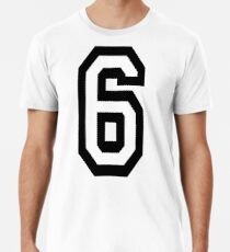 6, TEAM, SPORTS, NUMBER 6, SIX, SIXTH, Competition Männer Premium T-Shirts