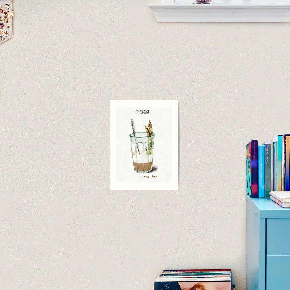 La Cuisine Fusion series - Aspargus Latte Art Print