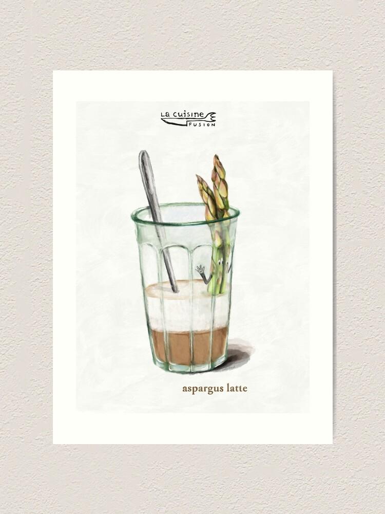 Alternate view of La Cuisine Fusion series - Aspargus Latte Art Print