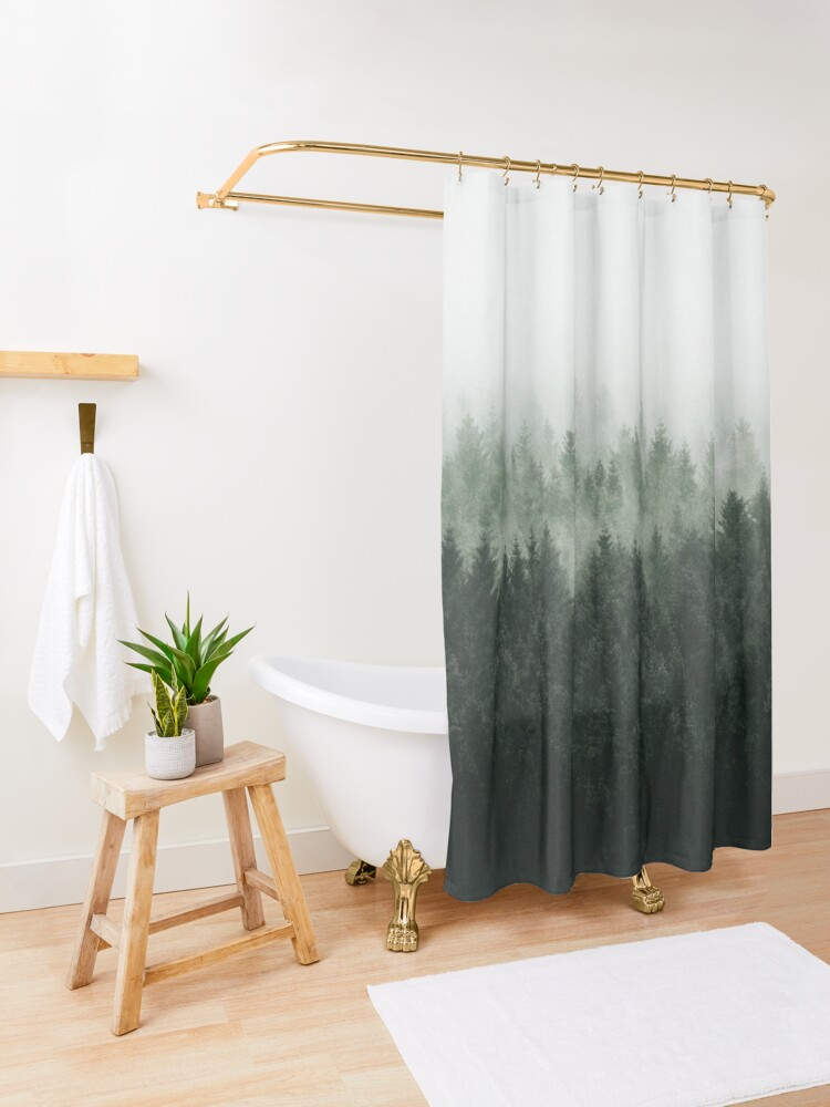 Alternate view of High And Low Shower Curtain