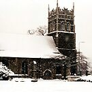 St Peter's Church in the Snow by Wayne Gerard Trotman