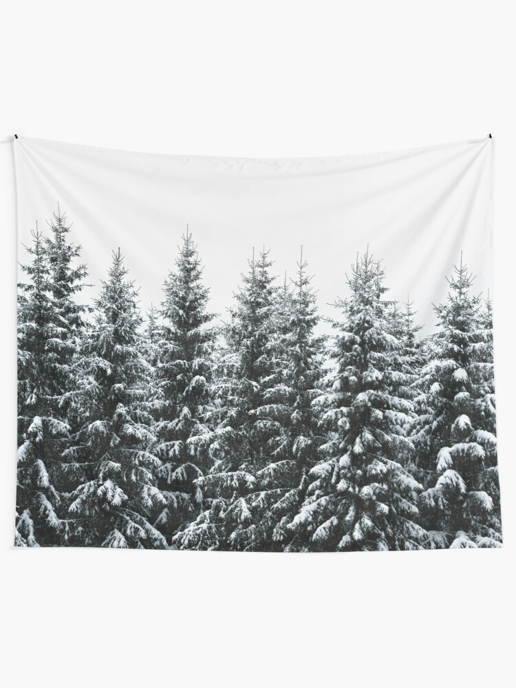 Alternate view of The White Bunch Wall Tapestry