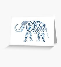 Elephant decorated Greeting Card