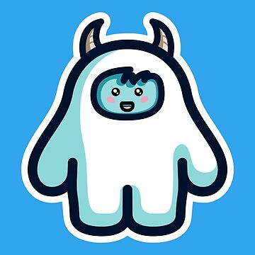 Kawaii Cute Abominable Snowman Yeti by freeves