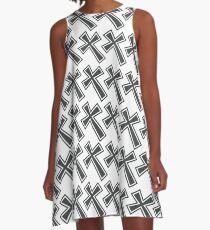 cross A-Line Dress