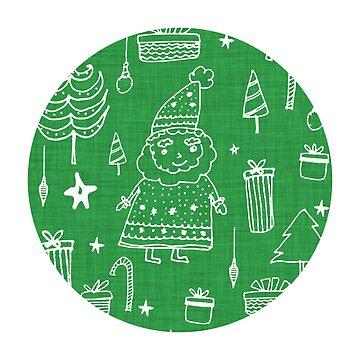 Santa Workshop Green by susycosta