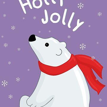 Polar Bear - Holly Jolly by ValentinaHramov