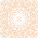 Pale Pumpkin and White Mandala by Kelly Dietrich