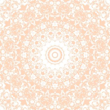 Pale Pumpkin and White Mandala by kellydietrich
