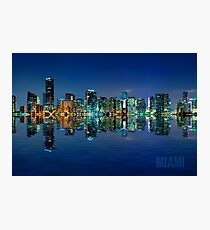Miami Skyline at night Photographic Print