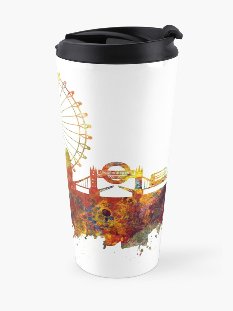 Alternate view of London Skyline England Travel Mug