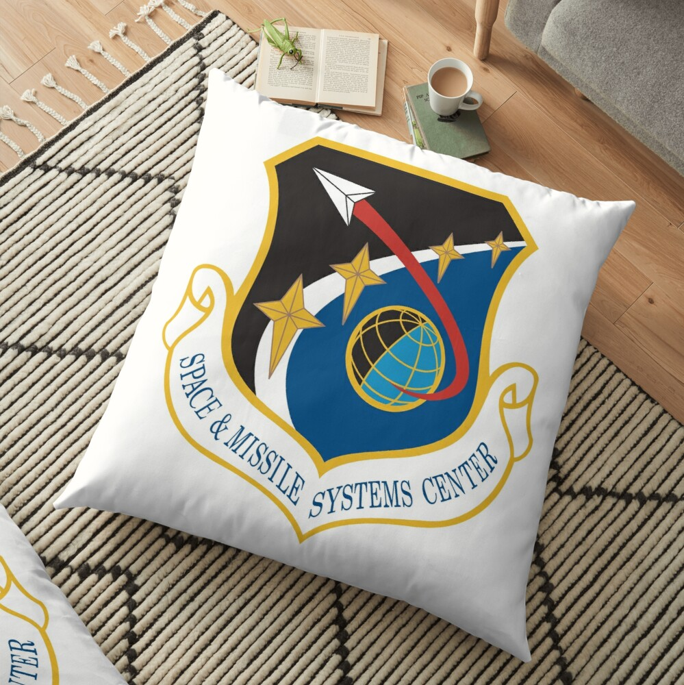 Space and Missile Systems Center Shield Floor Pillow