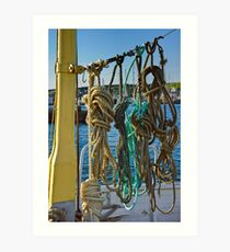 Ropes on Deck Art Print