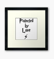 Protected by Love  Framed Print