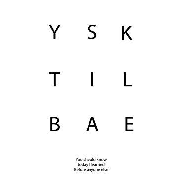 YSK TIL BAE funny abreviation by helgema