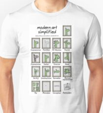 moderne Kunst vereinfacht Slim Fit T-Shirt