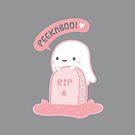 Cute Ghost Plays Peekaboo At Tomb by rustydoodle