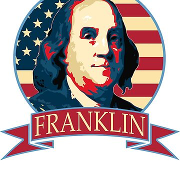 Benjamin Franklin American Banner by idaspark