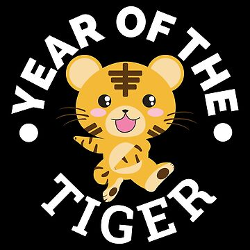 Chinese Zodiac Year of the Tiger Cute - Gift Idea by vicoli-shirts