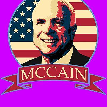 John McCain American Banner by idaspark